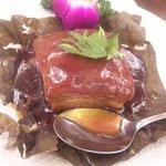 7576229 - 豚肉の角切り蓮の葉包み