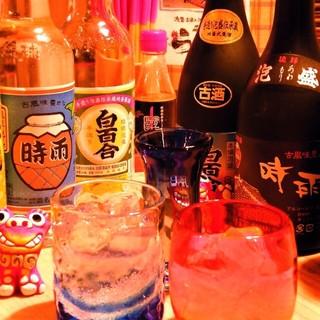 沖縄の地酒を心ゆくまで!泡盛は30種類以上を常備
