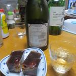 ワガシアソビ - 日本酒ともいただきました。
