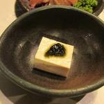 百年古家 大家 - 島豆腐とアオサのりがけ