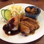 ちきんはうす - 日替わり ササミフライ 地鶏塩焼き しぐれ煮