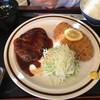 レストラン かつみ - 料理写真:ハンバーグ+ひれカツ 1,188円