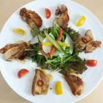 地鶏照り焼きサラダ
