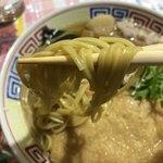びいどろ - 上きつね中華730円…上麺は国産小麦を使ってます