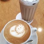 ユトリ珈琲店 - 豆乳ラテ・オレンジラテ