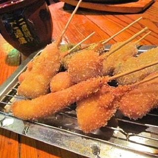 リーズナブルで美味しい♪大将こだわりの串カツ!