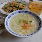 万里長城 - 定食に付くスープ