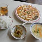 万里長城 - 蝦仁豆腐定食¥630