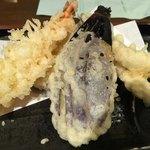 市場食堂 - 市場定食の天ぷら