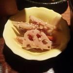 韮崎むぎとろ - 付け合わせの小鉢