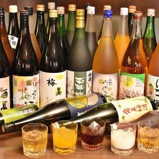全国から仕入れる、30種もの珍しい梅酒と中華の相性は抜群!!