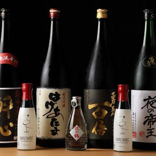 豊富なドリンク◆こだわりの日本酒・オリジナルフルーツ酒etc