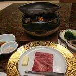 古屋旅館 - 宮崎のA5の黒毛和牛フィレの鉄板焼き