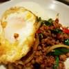 用賀タイ食堂 - 料理写真:ガパオライス(鶏肉のバジル炒め)950円