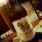 用賀タイ食堂 - シンハービール650円