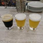 75797171 - オススメビール3種飲み比べ(黒船ポーター・COEDOビール・アウトサイダーホワイトエール)