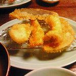 758201 - <ミックス天ぷら定食>なす・かぼちゃ・エリンギ・上ホタテ・えび