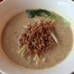 自然食カフェ すぴか - アワの豆乳担々麺(アップ)