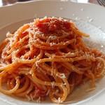 Ristorante Martello - シンプルトマトソーススパゲッティパルミジャーノかけ。