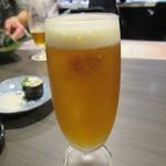 SUSHI BAR THE ƎND -縁戸- - まずは「ビール」