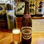 東宝茶屋 - [2017/10]瓶ビール・キリン大(650円)