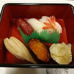 寿司和食しかま - 寿司5貫(4500円コース)