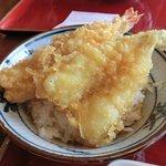 金比羅製麺 - 天丼/海老、キス