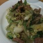 啓徳 - 春キャベツと豚肉、生姜の黒胡椒炒め