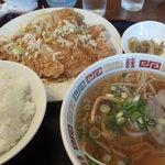 敦煌 - 料理写真:若鶏の香りソース定食780円