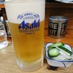 らーめんミート - 2017年11月 生ビール中 550円