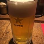 ラーメンBAR やきそばー HIT - 生ビール