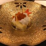 日本料理 銀座 一 - いくらとゴマ豆腐