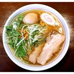 らーめん 円満 - 料理写真:「塩ラーメン+味玉」(2017.10)