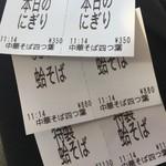 中華そば 四つ葉 - 食券