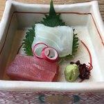 銀座蔵人 - 造り、キハダマグロと鯛
