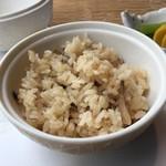 銀座蔵人 - 占地とキノコご飯