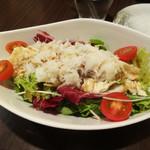 和風創作料理ぼんまり - かに湯葉サラダ。