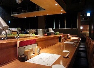 金舌 赤坂 - カウンター席