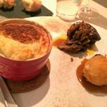 75820077 - ポルチーニ茸のヴルーテ、里芋とキノコのスフレ