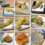 手打ち蕎麦 とおるや - 夜の天ぷらコース※季節により内容は変わります。