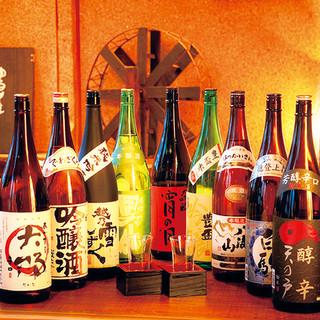 店主こだわり【東北の地酒】種類豊富に取り揃えております。