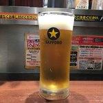 いきなり!ステーキ - 「生ビール」500円