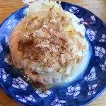 生涯青春の湯 つるつる温泉 お食事処 - 名物つるつる豆腐(350円)