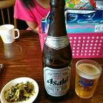 藤吉 - 瓶ビール中(o^-')b !
