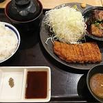 牛カツ専門店 京都勝牛 蒲田南口 - 特選牛ロースカツ膳 ランチセット(一品おかずは豚角煮)