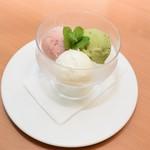 お楽しみアイス (3種類アイス盛合せ)  約125kcal