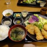くらんぼ - 2017.10 信州米豚のヒレカツ定食