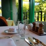 レストラン楓 - テーブルの上の様子