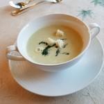 レストラン楓 - 「枝豆のクリームスープ」
