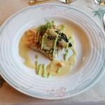 レストラン楓 - 「岩魚のポワレ 野菜のピュレ添え」